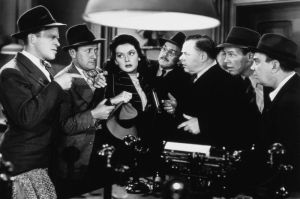 Rosalind Russell plays reporter Hildy Johnson in the 1940 film 'His Girl Friday.' Souce: Wikimedia Commons
