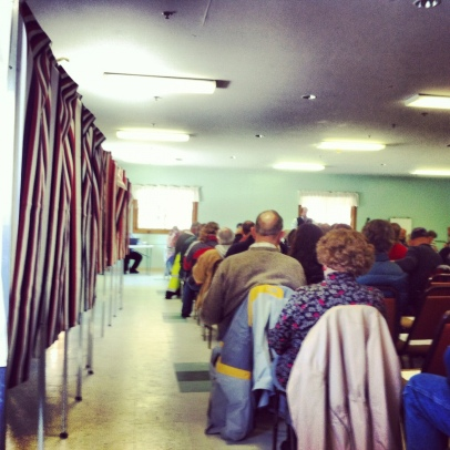 Road repair was the big issues at the 2013 town meeting in Northfield, NH. Photo/Meg Heckman