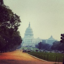 A hot morning on the mall in D.C.