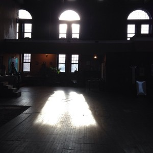 Seeing the light at my yoga studio yesterday afternoon.