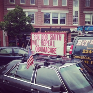 One of the many political opinions on display lately. Photo/Meg Heckman